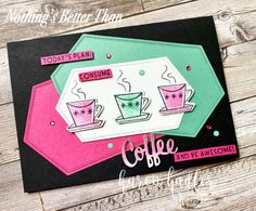 Nothing is Better Than Cocktails and Coffee. - Stamping Bees Cocktails, How To Plan, How To Make, Bee, Stampin Up Cards, Good Things, Keto Biscuits, Paper Crafts, New Catalogue