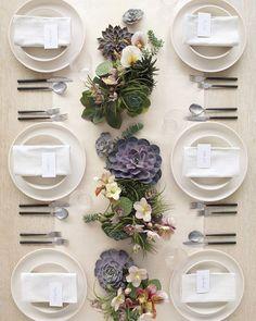 martha stewart weddings succulent arrangement - Google Search