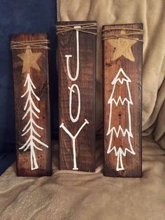 Wooden Christmas Decorations, Christmas Wood Crafts, Christmas Signs Wood, Farmhouse Christmas Decor, Rustic Christmas, Christmas Projects, Winter Christmas, Holiday Crafts, Christmas Holidays