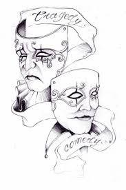 Resultado de imagen de gemini happy and sad face tattoo