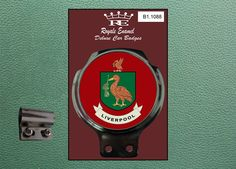 Royale Classic Car Badge & Bar Clip CITY OF LIVERPOOL B1.1088