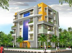 Modern apartment exterior design an online complete architectural solution provider company for Apartment exterior color schemes