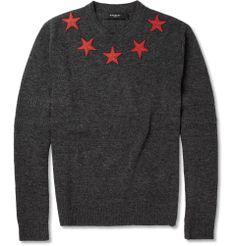 GivenchyStar-Appliquéd Wool Sweater|MR PORTER