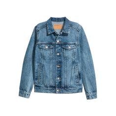 Denim Jacket $39.99 ($40) ❤ liked on Polyvore featuring outerwear, jackets, distressed denim jackets, blue jackets, distressed jean jacket, blue denim jacket and distressed jacket