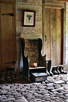 Tara Dillard: how will you flow into the house from the garden?  Arne Maynard garden boot room