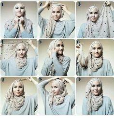 Tutorial Hijab Segi Empat Simple
