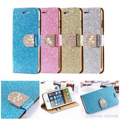 Bling Diamond Rhinestones Leather Pouch Case For Samsung Galaxy S6 Edge Note4 IPhone 6 6plus 5/5s Cases Wallet Shiny Buckle Stand Cover from Easycome,$2.84 | DHgate.com
