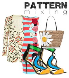 """""""Spring Pattern"""" by purplerose062 on Polyvore featuring Alice + Olivia, Antonio Marras, Francesca Mambrini, Kate Spade and patternmixing"""