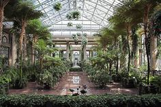 Conservatory in Longwood Gardens, Pennsylvania.