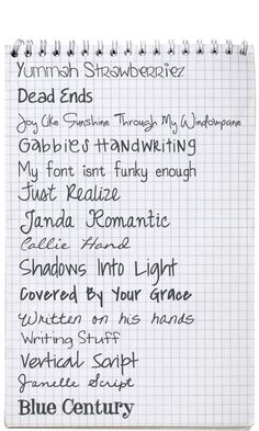 Lots of good handwriting fonts. Better than stock fonts so it looks more authentic!