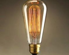 Vintage Edison Base Squirrel Cage Filament Incandescent Light Bulb, White, Pack of 1 - Accent lighting at its best! This vintage Edison bulb provides a beautiful warm glow to add character and depth to any room. Edison Lighting, Retro Lighting, Industrial Lighting, Accent Lighting, Antique Lighting, Modern Industrial, Antique Light Bulbs, Lampe Retro, Led Lamp