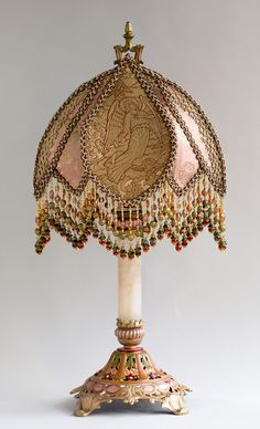 Gothic Victorian Lampshade with Angels and Cherubs