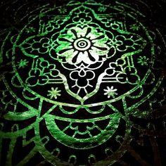 Green Psy Vintage T-shirts, Mandala, Symbols, Green, Cards, Framed Art Prints, Iphone Case Covers, Stationery Set, Canvas
