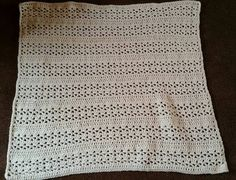 Cute baby blanket made in Malta. Love this pattern.