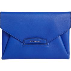 Givenchy Snakeskin Antigona Envelope Clutch (30 840 UAH) ❤ liked on Polyvore featuring bags, handbags, clutches, accessories, bolsas, purses, blue purse, blue hand bag, envelope clutch and envelope clutch bag