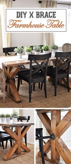 17 Rustikale DIY Bauernhaus Tisch Ideen, Um Land In Ihr Haus Zu Bringen