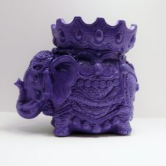 bohemian elephant figurine  //  purple home decor  //  by nashpop, $26.00