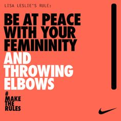 Lisa Leslie- Female athletes can be ladies too Basketball Is Life, Basketball Teams, Basketball Motivation, Basketball Floor, Basketball Tickets, Basketball Funny, Soccer Quotes, Sport Quotes, Nike Quotes