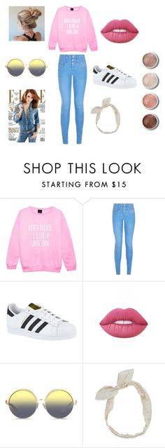 """The Casual Brunch"" by christinajay ❤ liked on Polyvore featuring New Look, adidas, Lime Crime, Matthew Williamson, Carole and Terre Mère"