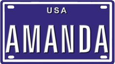 Nice Cars accessories 2017: Amanda USA mini metal embossed license plate name for bikes, tricycles, wagons, ...  Toys & Games - Tricycles, Scooters & Wagons Check more at http://autoboard.pro/2017/2017/06/20/cars-accessories-2017-amanda-usa-mini-metal-embossed-license-plate-name-for-bikes-tricycles-wagons-toys-games-tricycles-scooters-wagons/