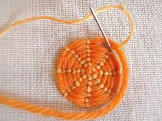 Couched Circles Tutorial
