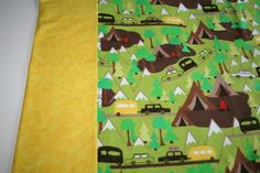 Camping trailer tent and mountain yellow and by DreamersGifts, $10.00