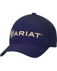 ac41b95d5d2 Ariat Navy Logo Cap 1502903 Browning Logo
