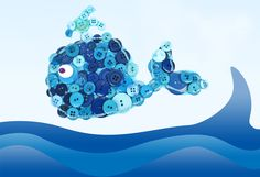 Make a splash with this cute button whale. This bright blue button project is sure to keep little fingers busy this summer. Let's get making!...