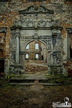 Old castle in Siedlisku, provinces Lubuskie, Poland.