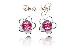 Cheap ear women, Buy Quality crystal stud earrings directly from China brand stud earrings Suppliers: 12 colors famous brand flowers pink Crystal stud Earrings Austria plum fashion ear women simple party jewelry girlfriend gift Girls Earrings, Women's Earrings, Plum Flowers, Jewelry Party, Famous Brands, Gifts For Women, Swarovski, Jewelry Accessories, Fashion Jewelry