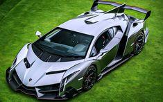 Download wallpapers Lamborghini Veneno, 4k, hypercars, 2017 cars, italian cars, supercars, Lamborghini