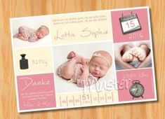 Ausgefallene Dankeskarten Geburt 194 - Bild vergrößern