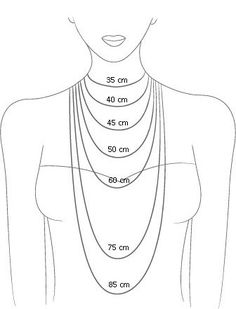 Choose the best chain length for your personalized necklace ...
