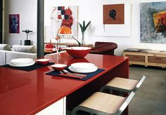 Be bold with color! See Silestone for dynamic counter top colors.