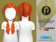 LEAH LILLITH ALESSIA HAIR 001 - TODDLER VERSION > CHARACTERISTICS: - ADULT TO TODDLER - Category: Hair - Texture: Original - Only: Girl - For Sims 4 Adult and Original Mesh [X] - All LODS - Custom...