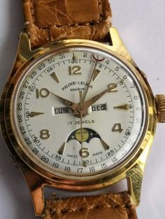 Amazing Watches, Beautiful Watches, Cool Watches, Stylish Watches, Luxury Watches, Moonphase Watch, Watch Diy, Breitling Watches, Vintage Watches For Men