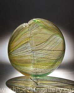 """Nancy Callan, """"Pale Green Seed,"""" Blown glass, 16""""h x 15""""w x 7""""d, 2013, available at Blue Rain Gallery. www.blueraingallery.com    Nancy Callan's newest show of glass sculptures opens on January 10th, 2013 at Blue Rain Contemporary in Scottsdale, Arizona."""