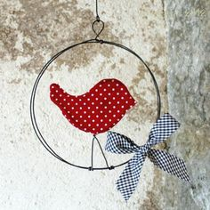 uccellino wire e stoffa