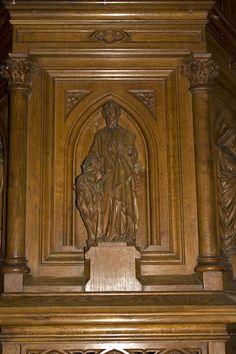 Église Saint-Martin (Prieuré d'Ambierle)-Saint Marc - Category:Pulpit of Église Saint-Martin, Ambierle — Wikimedia Commons