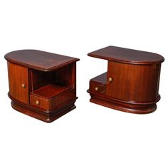Pair of Art Deco Night Stands | From a unique collection of antique and modern night stands at https://www.1stdibs.com/furniture/tables/night-stands/