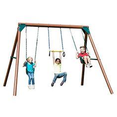 Great gift idea Swing-N-Slide PB 8330 Orbiter Wood Complete Swing Set