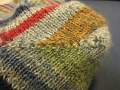 Love the colours - Knitted Toe Up Sock Heel Tutorial/Pattern