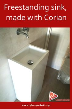 Freestanding #sink made with #Corian!