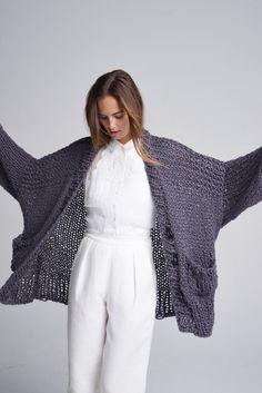 Knitting Yarn, Hand Knitting, Knitting Needles, Loopy Mango, Mango Bags, Summer Coats, Long Vests, Cozy Sweaters, Diy Kits