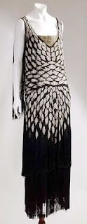 early Chanel gown, flapper dress from the 1920s.