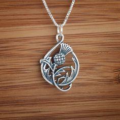 Lovely thistle pendant https://www.etsy.com/listing/95841894/double-sided-scottish-thistle-pendant