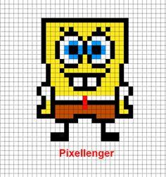 Cute Disney, Baby Disney, Minecraft Pixel Art, Melting Beads, Alpha Patterns, C2c, Cool Socks, Drawing Tips, Spongebob