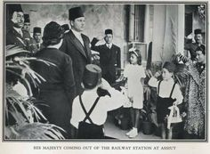 King farouk at the metro station of Asyout