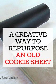 This repurposed chalk board idea can be made for cheap. Keep your family organized with this recycled cookie sheet that you can make quickly with items you can find at the dollar tree. Fun Easy Crafts, Amazing Crafts, Diy Crafts, Old Washing Machine, Terracotta Plant Pots, Etch A Sketch, Scrap Material, Diy Kitchen Decor, Diy Chalkboard