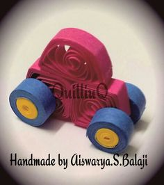 Quilled Baby toy car :-)